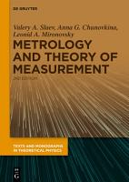 Metrology and Theory of Measurement PDF