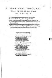 Urbis Romae topographia
