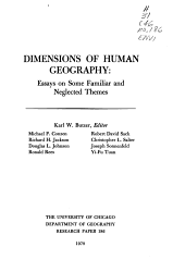 Dimensions Of Human Geography Book PDF