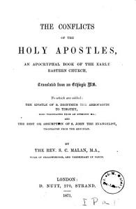 The Conflicts of the Holy Apostles  an apocryphal book of the early Eastern Church PDF