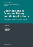 Contributions to Operator Theory and its Applications PDF