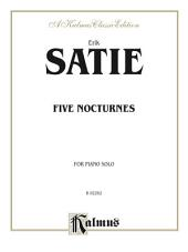 Five Nocturnes: For Late Intermediate Piano Solo