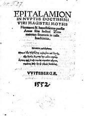 Epitalamion in nuptiis ... Moysis Hermanni et ... Annae ... filiae Jodoci Zimmerman (etc.)