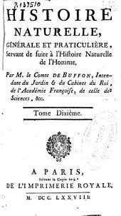 Histoire naturelle, générale et praticuliere [sic], servant de suite à l'histoire naturelle de l'homme