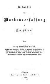 Geschichte Der Markenverfassung in Deutschland