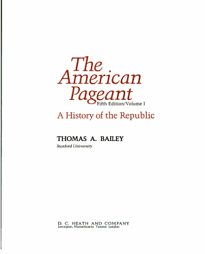 The American Pageant PDF
