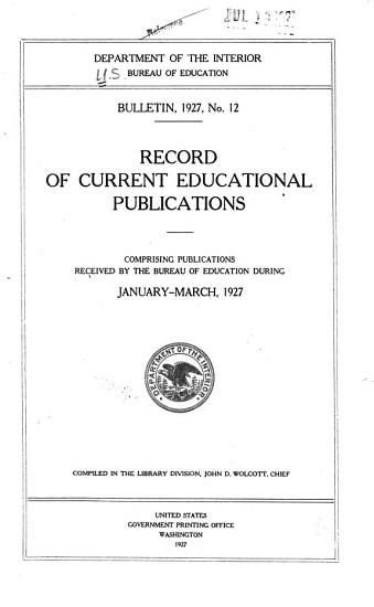 Record of Current Educational Publications PDF