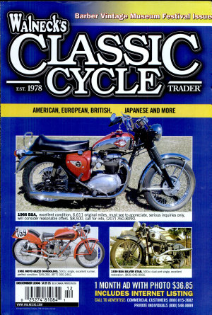 WALNECK S CLASSIC CYCLE TRADER  DECEMBER 2006 PDF