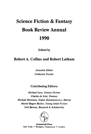 Science Fiction   Fantasy Book Review Annual PDF