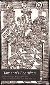 Hamann's Schriften: Band 2