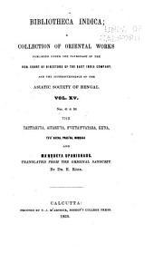 Bibliotheca Indica: Volume 11