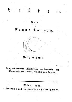 Lilien  Zweyter Theil  Franz von Bourbon  Kronfeldherr von Frankreich  und Margaretha von Balois  K  niginn von Navarra PDF
