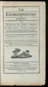 Les Contemporaines, ou Avantures des plus jolies Femmes de l'âge présent: ¬Les Fammes-de-Lettres. 39