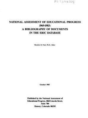National Assessment of Educational Progress 1969 1983