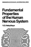 Fundamental Properties of the Human Nervous System PDF