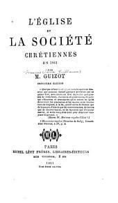 L'Église et la société chrétiennes en 1861
