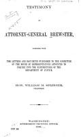 Testimony of Attorney general Brewster PDF