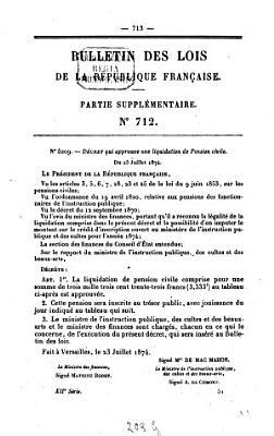 Bulletin des lois de la R  publique Fran  aise PDF