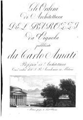 Gli ordini di architettura, pubblicati da Carlo Amati
