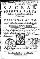 Rimas sacras. Primera parte, de Lope de Vega Carpio...