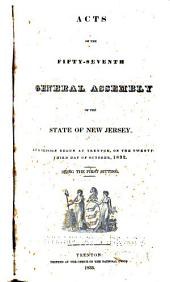 Acts of the Legislature of the State of New Jersey