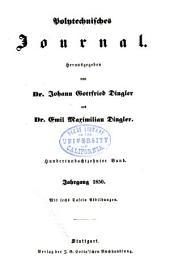 Dinglers polytechnisches journal: Band 118