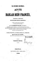 El Nov  simo Chantreau  arte de hablar bien franc  s PDF