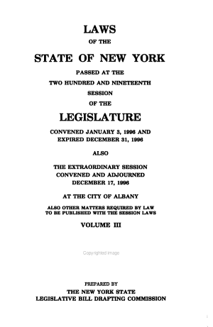 Laws of the State of New York Passed at the ... Session of the Legislature