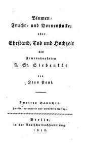 Blumen-, Frucht- und Dornenstücke oder Ehestand, Tod und Hochzeit des Armenadvokaten F. St. Siebenkäs: Band 2