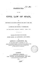 Institutes of the Civil Law of Spain