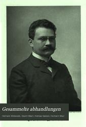 Gesammelte abhandlungen von Hermann Minkowski: Band 1