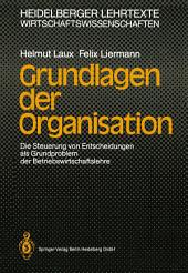 Grundlagen der Organisation: Die Steuerung von Entscheidungen als Grundproblem der Betriebswirtschaftslehre