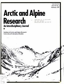 Arctic and Alpine Research PDF