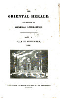 The Oriental Herald  and Journal of General Literature PDF