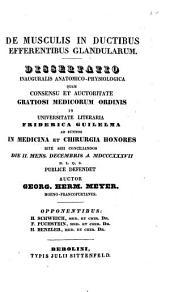 De musculis in ductibus efferentibus glandularum: Diss. inaug. anat.-physiol