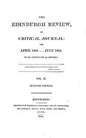 the edinburgh review or critical journal