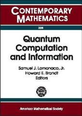 Quantum Computation and Information: AMS Special Session Quantum Computation and Information, January 19-21, 2000, Washington, Part 3