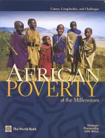 African Poverty at the Millennium PDF