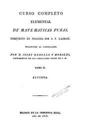 Curso completo elemental de matematicas puras, 2
