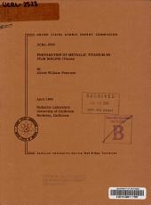 Preparation of Metallic Titanium by Film Boiling  thesis  PDF