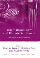 International Law and Dispute Settlement PDF