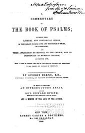A commentary of the book of Psalms ...