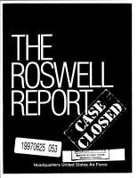 The Roswell Report  Case Closed PDF