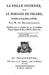 La folle journée: ou, Le mariage de Figaro