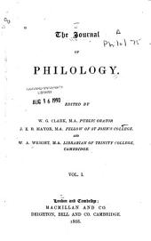 The Journal of Philology: Volume 1