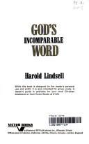 Download God s Incomparable Word Book