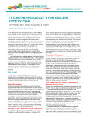Strengthening capacity for resilient food systems