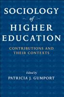Sociology of Higher Education PDF