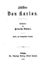 Erläuterungen zu Schillers Werken: Bände 16-17