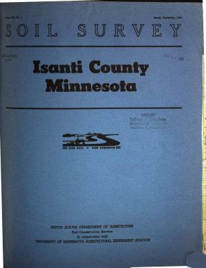 Soil survey of Isanti County  Minnesota